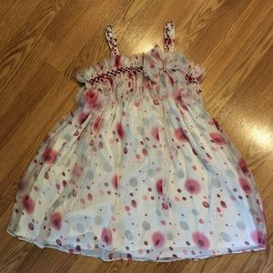 Isobella & Chloe sheer Polka Dot Party Dress sz10